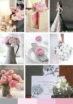 Peony wedding inspiration board