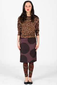 Spot Large - Pencil Skirt Woven Ethical Clothing, Fashion Brand, Pencil, Skirts, Fabric, Clothes, Collection, Tejido, Outfit