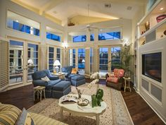 Family Room with transom windows - Coquina Sands - Melinda Gunther Naples Realtor
