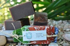 CHOCOLATE SOAP This beautiful soap has a rich dark chocolate colour with the distinct fragrance of chocolate. Combined with all other ingredients makes this soap a delight to use. High lather and gentle for everyone to use. Wrapped in Fair Trade Handmade paper from Bangladesh for the perfect gift. www.naturalalchemist.com.au