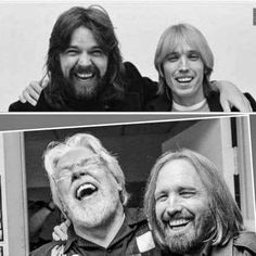 Tom and Bob. Love these pictures! ❤ Bob Seger and Tom Petty, before and after, love it! Pat Benatar, Music Is My Escape, My Music, Bob Marley, Travelling Wilburys, Memphis May Fire, Chris Tomlin, Mikey Way, Bob Seger