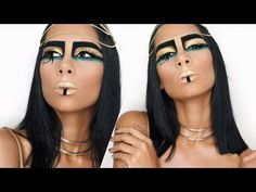 Cleopatra makeup represents a gorgeous look. Here is what you have to do in order to achieve the same makeup as the beautiful Cleopatra. Stila Liquid Eyeshadow, Cream Eyeshadow, Creative Makeup, Diy Makeup, Halloween Makeup Youtube, Egypt Makeup, Cleopatra Makeup, Famous Makeup Artists, Larp