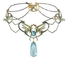 Rene Lalique, 1905,  Damselflies Nechlace