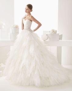 rosa clara wedding dress 2014 bridal castilla  full