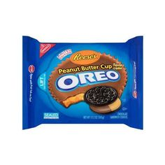 Nabisco Reese's Peanut Butter Cup Creme Oreo Chocolate Sandwich... ($3.50) ❤ liked on Polyvore featuring food and food and drink