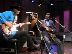 """Albert King and his protege Stevie Ray Vaughan In Session """"Born Under a Bad Sign"""" info & lyrics.  This is the long version unedited for tv showing the relationship between the two......priceless!"""