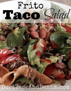 Frito taco salad recipe | DuctTapeAndDenim.com