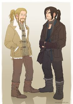 modern!Fili and Kili