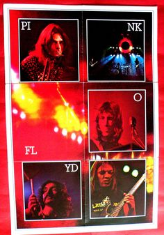 PINK FLOYD 3 X LOT 1973 THE DARK SIDE OF THE MOON RARE POSTERS