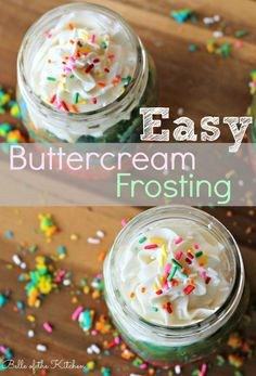 This recipe is so easy and tastes a million times better than any frosting you can buy at the store! Seriously, try it and you won't go back to store bought kind, I promise!