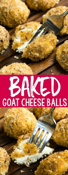 Baked Goat Cheese Balls is part of Elegant appetizers Finger Foods - Today we're making walnut panko baked goat cheese balls! These honey drizzled crispy goat cheese bites are baked instead of fried and make a fabulous appetizer and salad topper! Snacks Für Party, Appetizers For Party, Appetizer Recipes, Vegetarian Appetizers, Appetizer Dessert, Vegetarian Cheese, Italian Appetizers, Baked Goat Cheese, Goat Cheese Recipes