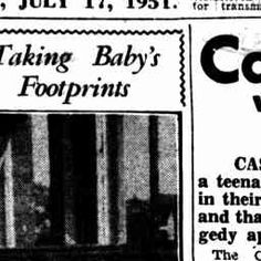 17 Jul 1951 - Babies Footprinted For Identification - Trove