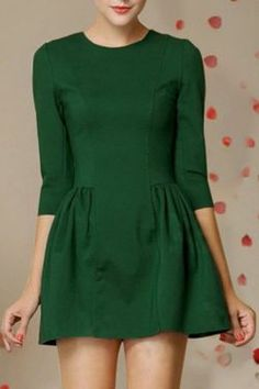 ROMWE Pleated Zippered Crop Green Dress Romwe is having a sale of up to off -- now until September Check out this dress and other clothing items on Piggeeback! Cute Dresses, Short Dresses, Looks Style, My Style, Dress Outfits, Cute Outfits, Work Outfits, Fashion Outfits, Moda Retro