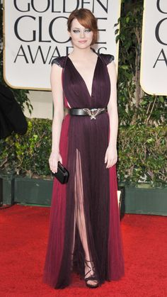 From Emma Stone to Kim Kardashian, See the Most Memorable Celebrity Lanvin Looks - Emma Stone, 2012 - from InStyle.com