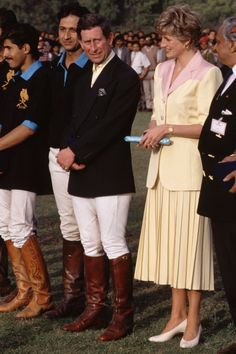Princess Diana In India MARCH 29, 2016 Prince Charles and Princess Diana with Indian officials and locals. REX Shutterstock Princess Diana InIndia