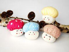 Mushroom Ornament Christmas tree Toadstool jobuko by Jobuko