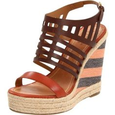 Joseph Griffin Women`s Cardiff Beach Wedge Sandal,Moranga Orange/Terracota Brown Combo,5 M US $265.00