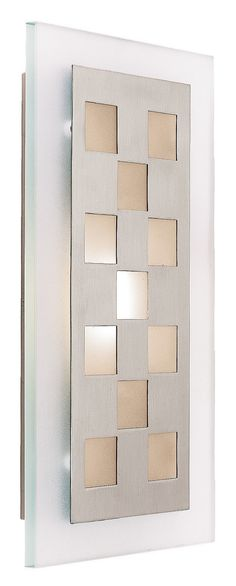 Aquarius Squares 1 Light Wall Sconce with Frosted Glass
