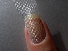 The Dutch Nail Blog: Tips And Tricks: How To Repair a Broken Nail -- Cause i just have extra screening laying around and time to do this... how about I cut the finger nail?