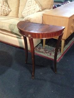 Wooden demi-lune table from #FurnishN20