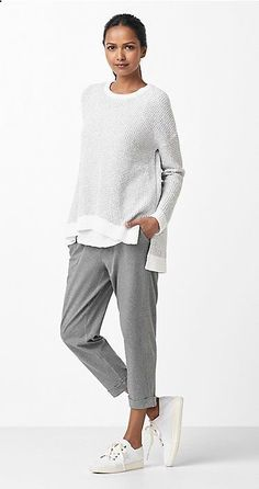 Free standard shipping on all Continental US orders. Shop women's casual clothing that effortlessly combines timeless, elegant lines with eco-friendly fabrics from EILEEN FISHER. Mode Outfits, Casual Outfits, Fashion Outfits, Womens Fashion, Fashion Trends, Fashion Ideas, Casual Wear, Woman Outfits, Club Outfits