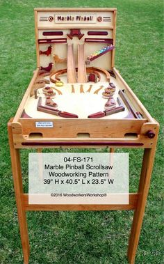 Marble Pinball Machine Scrollsaw Woodworking Plan