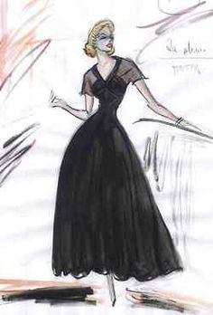 Costume sketch by Edith Head