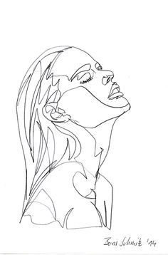 "borisschmitz: ""Gaze 26"", one-continuous-line-drawing by Boris"