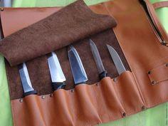 Мужские сумки ручной работы. Скрутка для ножей. Natta VLADI. Интернет-магазин Ярмарка Мастеров. Рыжий, ножны, органайзер