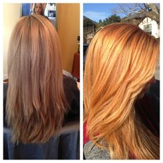 Blonde to Strawberry Blonde by me