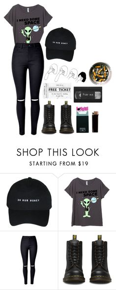"""•journal entry•"" by empty-goldd ❤ liked on Polyvore featuring WithChic and Dr. Martens"