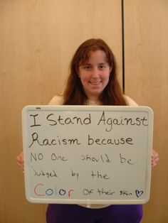 No one should be judged by the color of their skin.