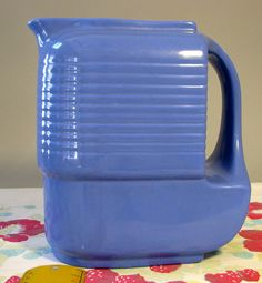 """Vintage Hall China Westinghouse 1930s Water Server or Pitcher """"General"""" Art Deco got this"""