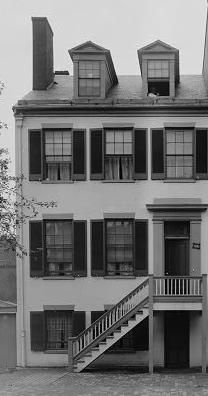 """Mary Surratt's boardinghouse in Washington; it was here that President Andrew Johnson said she """"kept the nest that hatched the egg."""""""