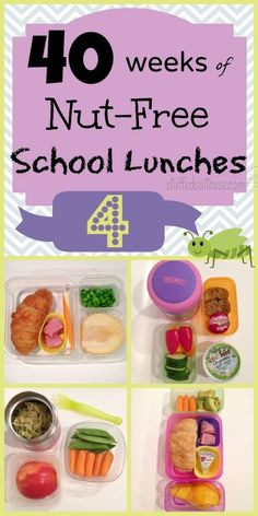 Week 4 of 40 Weeks of Nut Free Allergy Kids School Lunches - for kid lunch ideas & inspiration || StuffedSuitcase.com