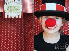 Awesome circus/clown photo booth for a party (or just for fun!)