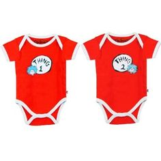 Bumkins Dr. Seuss Thing 1 & 2 Infant Bodysuit Combo (3 Months) Bumkins. $25.00