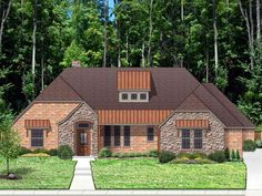 House Plan 87979 | European   Traditional   Tudor    Plan with 2570 Sq. Ft., 3 Bedrooms, 3 Bathrooms, 3 Car Garage