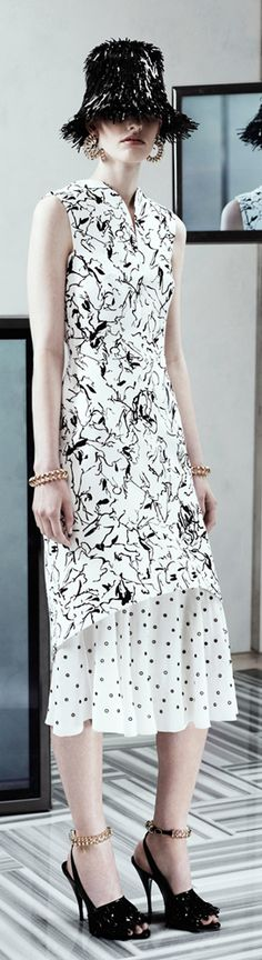 #Balenciaga Resort 2014- Love the dress, but not the way she's wearing it.
