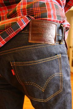 Levi's and plaid