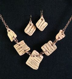 Lake Superior 1880's Brick Necklace