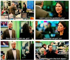 The Newsroom, Olivia Munn. This is one of the many moments why i fell in love with Olivia Munn and Sloan Sabbith.