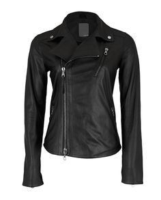I have this jacket (the version from last season--it has a slightly more classic back) and I wear it with everything.  A soft, buttery leather motorcycle jacket is a Paris staple :)