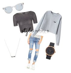 """""""Casual outfit✨"""" by nachobae ❤ liked on Polyvore featuring Topshop, Sun Buddies, rag & bone/JEAN, Chicnova Fashion, Marc Jacobs, contestentry and styleinsider"""