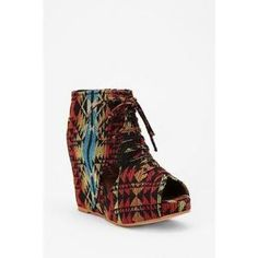 Jeffrey Campbell Roks Wedge - Green Multi