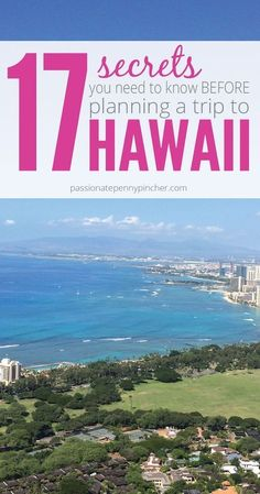 17 Secrets You Need to Know Before Planning a Trip to Hawaii. Perfect travel tips for hawaii Vacation Destinations, Vacation Trips, Dream Vacations, Vacation Spots, Hawaii Vacation Tips, Hawaii Trips, Vacation Packing Lists, Travel To Hawaii, Aloha Travel