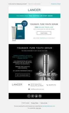 Luxury Skincare: Gift with Purchase E-mail by foxxx