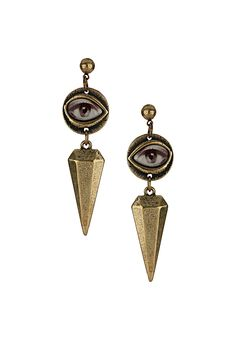 EYE SPIKE DROP earrings topshop