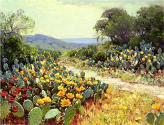 Cactus in Bloom - Robert Julian Onderdonk. Wow, who would have thought 'onderdonk' was an honest to goodness, real name?