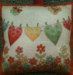 Love Heart Fabric Lavender Bag - Handmade